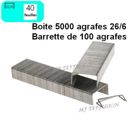 BOITE 5000 AGRAFES MF DIFFUSION