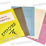 Pochettes coloris Effas'tyl MF DIFFUSION