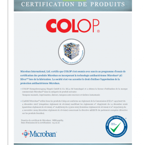 Certification Microban