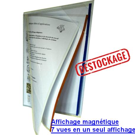 Pochette magnétique Applic-vues 7 vues en 1 seul affichage MF DIFFUSION