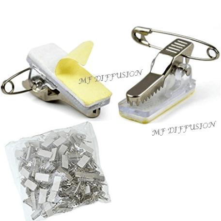 haute couture apparence élégante choisir authentique Pince clip adhésive à pince métal et épingle