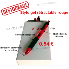 Stylo gel rouge MF DIFFUSION