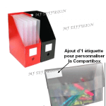 Boite Compartibox avec rajout d'1 étiquette MF DIFFUSION
