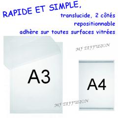 Pochette affichage électrostatique MF DIFFUSION