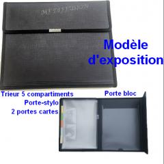 Conférencier avec porte bloc A4 et Trieur 5 Compartiments MF DIFFUSION