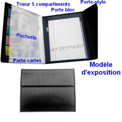 Conférencier avec Bloc Papier A4 Ligné et Trieur 5 Compartiments MF DIFFUSION