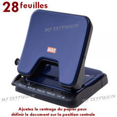 Perforateur deux trous MAX MF DIFFUSION