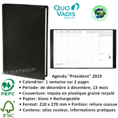 Agenda Président QUO VADIS 2019 MF DIFFUSION