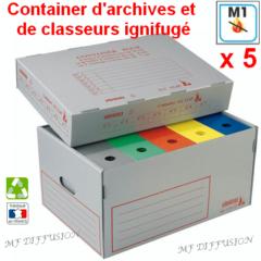 Container d'archives et classeurs ignifugé MF DIFFUSION