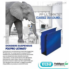 Dossiers suspendus Polypro Ultimate MF DIFFUSION