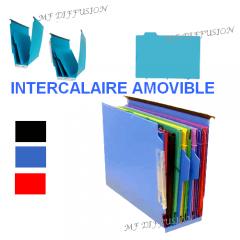 Intercalaire amovible dossier suspendu armoire ou tiroir MF DIFFUSION