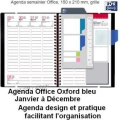 Agenda Office Oxford bleu 2021 MF DIFFUSION