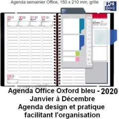 Agenda Office Oxford bleu 2020 MF DIFFUSION