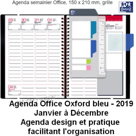 Agenda semainier 150 x 210 Bleu MF DIFFUSION