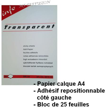 Papier calque adhésif A4 MF DIFFUSION