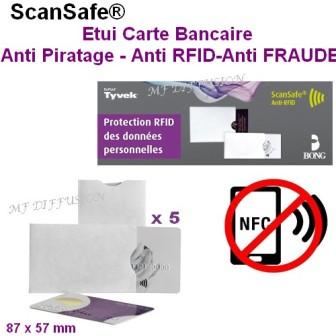 Étuis Carte bancaire anti RFID MF DIFFUSION