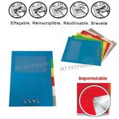 Pochettes onglets réinscriptibles EFFA6 MFDIFFUSON