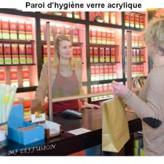 Paroi d'hygiène verre acrylique MF DIFFUSION
