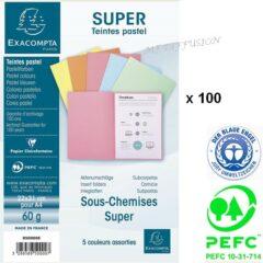 Paquet de 100 sous chemises SUPER 60 g.m2 pastel MF DIFFUSION