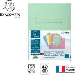 Paquet de 50 chemises pré-imprimés 2 rabats SUPER 250 MF DIFFUSION